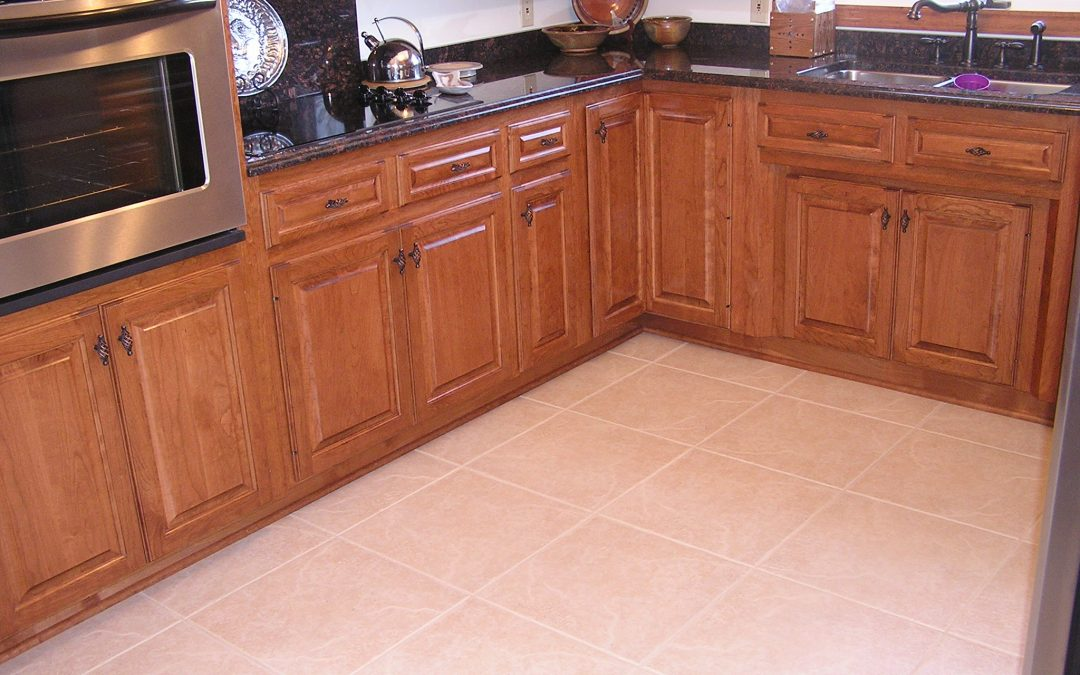 Large Format Porcelain Tile Kitchen Floor in Clinton, Ohio
