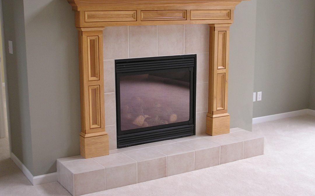 Porcelain Tile Fireplace in Cuyahoga Falls, Ohio