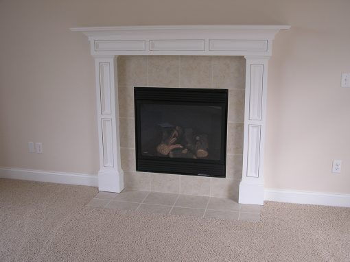 Ceramic Tile Fireplace in Cuyahoga Falls, Ohio
