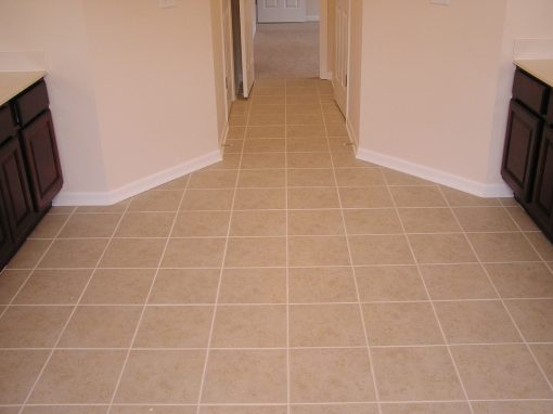 Ceramic Tile Bathroom Floor in Cuyahoga Falls, Ohio