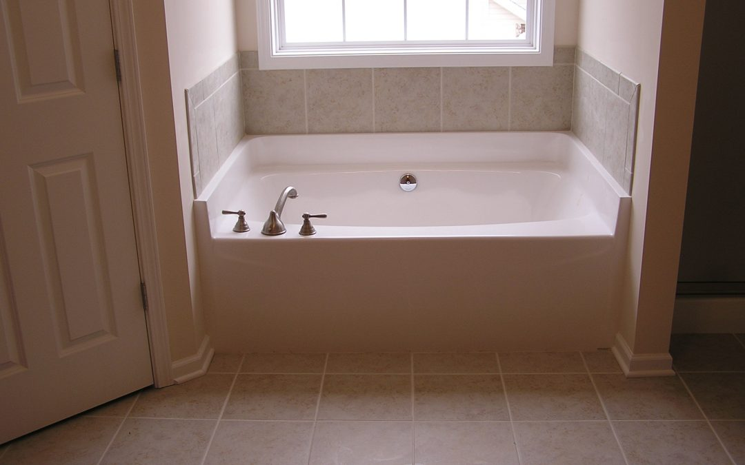 Ceramic Tile Tub Surround in Cuyahoga Falls, Ohio