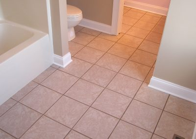 Jack and Jill Tile Bathroom Floor in Cuyahoga Falls, Ohio