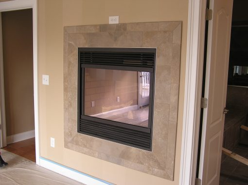 Cuyahoga Falls, Ohio – A Different Tile Fireplace