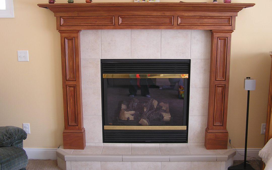 Cuyahoga Falls, Ohio Porcelain Tile Fireplace