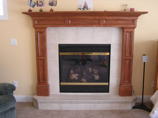 Cuyahoga Falls, Ohio Porcelain Tile Fireplace
