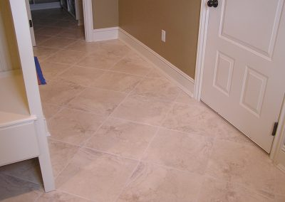 Porcelain Tile Mudroom in North Canton, Ohio