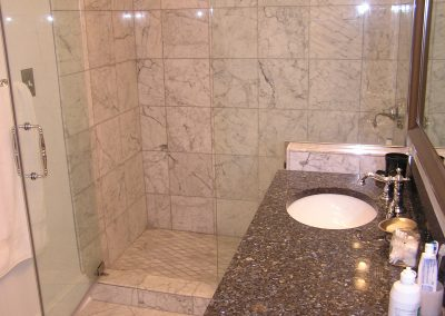 Shaver Custom Marble Bathroom