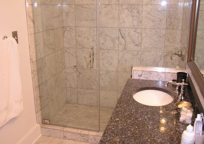 Venatino Carrara Custom Marble Shower in Hudson, Ohio
