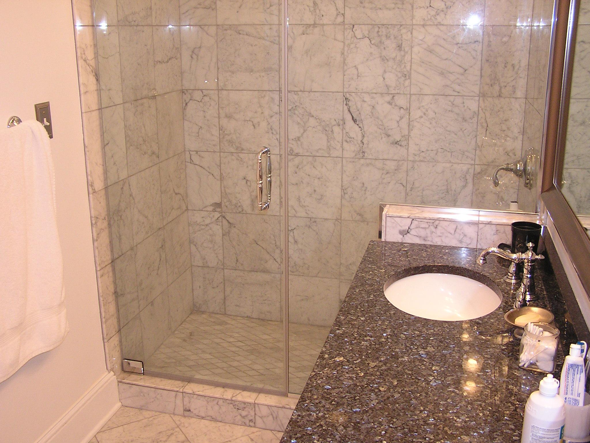 Shaver Custom Marble Bathroom
