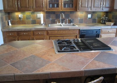 Porcelain Tile Countertops and Matching Backsplash in Bath, Ohio