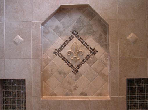 Custom Tile & Stone Shower in Cuyahoga Falls, Ohio