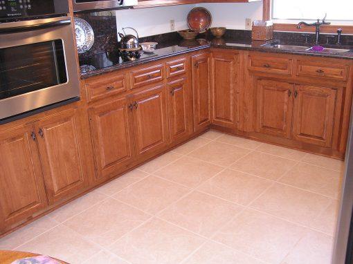 Large Format Porcelain Tile Kitchen Floor in Clinton, Ohio