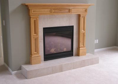Porcelain Tile Fireplace in Cuyahoga Falls, Ohio