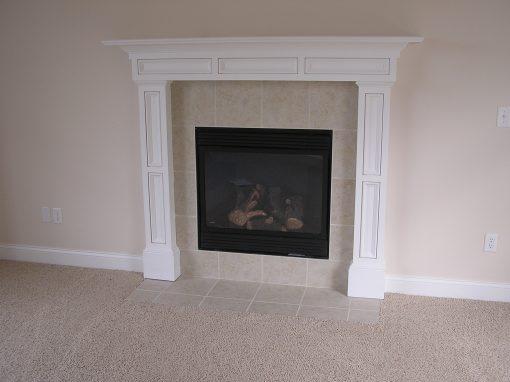Ceramic Tile Fireplace in Cuyahoga Falls, Ohio
