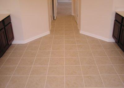 Ceramic Tile Bathroom Floor in Cuyahoga Falls, Ohio
