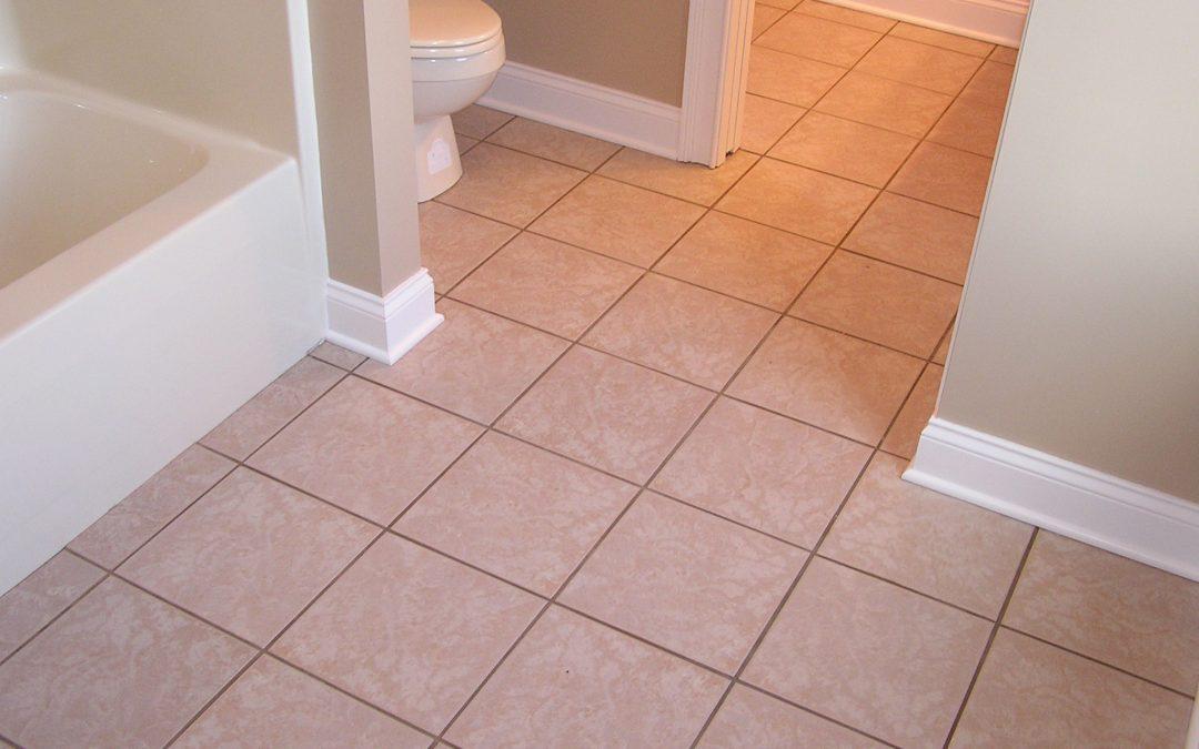 Jack and Jill Tile Bathroom Floor in Cuyahoga Falls, Ohio