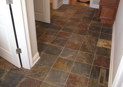 Multi-color Slate Tile Mudroom in Cuyahoga Falls, Ohio