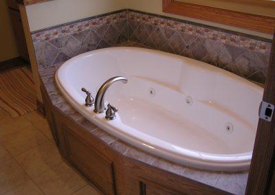Custom Tile Tub Deck in Cuyahoga Falls, Ohio