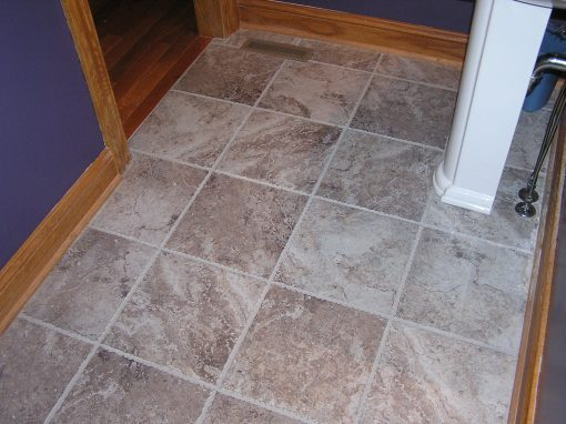 Porcelain Stone Tile Floor in Cuyahoga Falls, Ohio