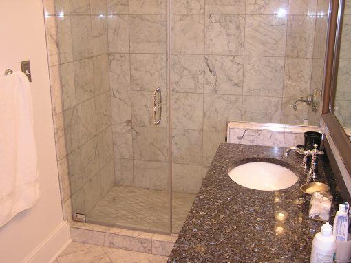 Venatino Carrara Custom Marble Shower in Hudson, Ohio