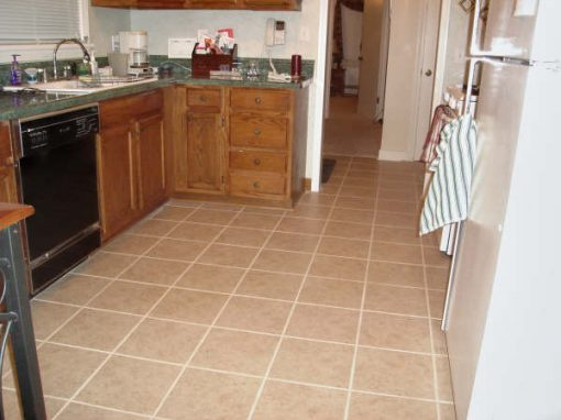 Porcelain Tile Kitchen Floor in Akron, Ohio