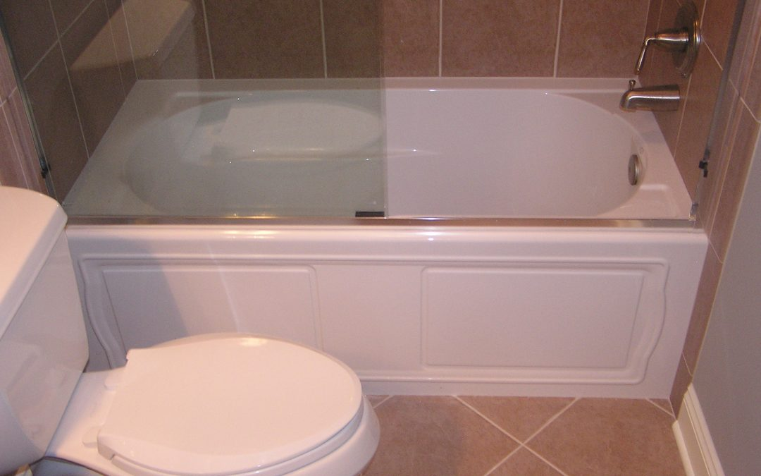 Ceramic Tile Tub Surround and Bathroom Tile Floor in Stow, Ohio