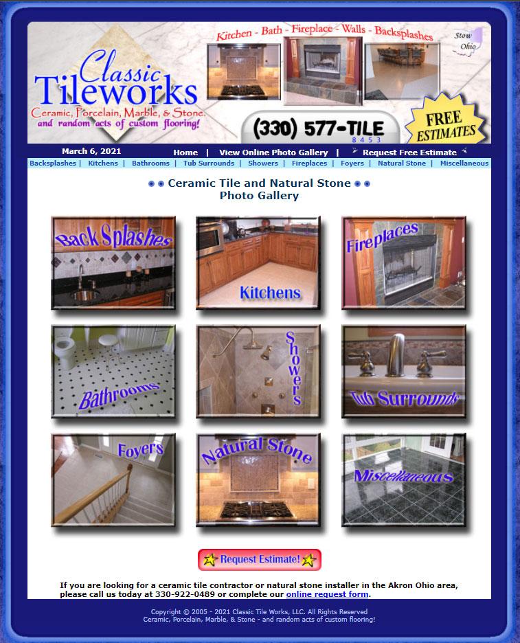 Old ClassicTileworks.com website