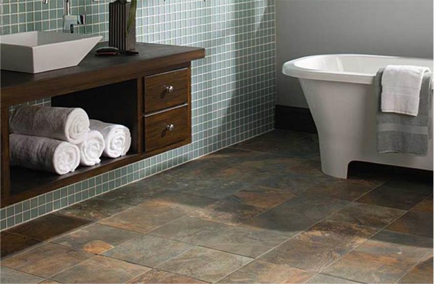 Slate look porcelain tile